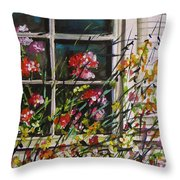 Summer Inside And Out Throw Pillow