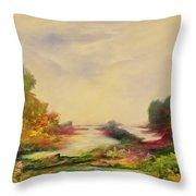 Summer Joy Throw Pillow by Hannibal Mane