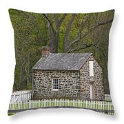 Summer Kitchen In Spring - Colonial Stone Throw Pillow
