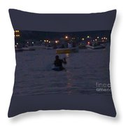 Summer Lake Evening Wait Throw Pillow