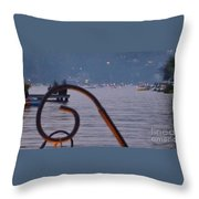 Summer Lake Twinkles Throw Pillow