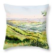 Summer Landscape Inspiration Point Orinda California Throw Pillow