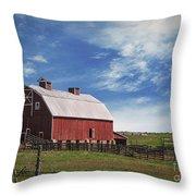 Summer Mancos Barn  Throw Pillow
