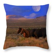 Summer Moon  Throw Pillow by Jeanne  Bencich-Nations