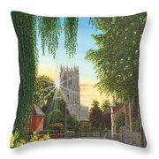 Summer Morning St. Mary Throw Pillow
