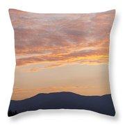 Summer Mountain Dusk Throw Pillow