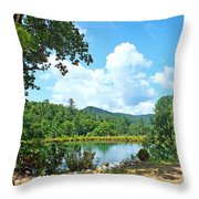 Summer Mountain Pond 2 Throw Pillow