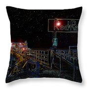 Summer Night At The Pier Throw Pillow