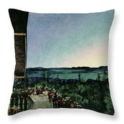 Summer Night Throw Pillow by Harald Oscar Sohlberg