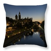 Urban Summer Night.. Throw Pillow