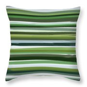 Summer Of Green Throw Pillow by Lourry Legarde