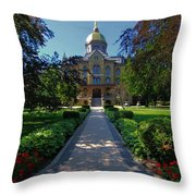 Summer On Notre Dame Campus Throw Pillow