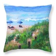 Summer On The Beach Throw Pillow