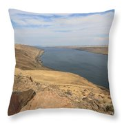 Summer On The Columbia River Throw Pillow