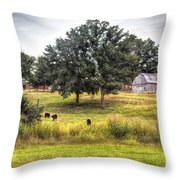 Summer On The Farm Throw Pillow