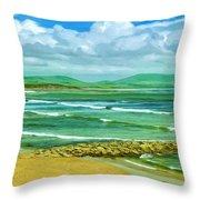 Summer On The Irish Coast Throw Pillow