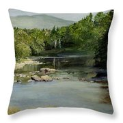Summer On The River In Vermont Throw Pillow