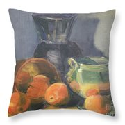 Summer Oranges Throw Pillow