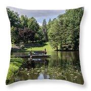 Summer Pond Throw Pillow