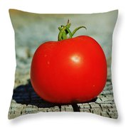 Summer Red Tomato Throw Pillow