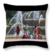 Summer Resting Place Throw Pillow