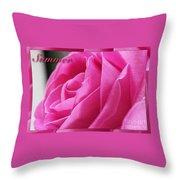 Summer Rose Throw Pillow
