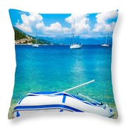 Summer Sailing In The Med Throw Pillow