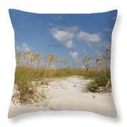 Summer Sea Oats Throw Pillow