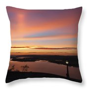 Summer Skies At Crown Point Throw Pillow