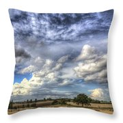 Summer Sky Farm Throw Pillow