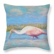 Summer Spoonbill Throw Pillow