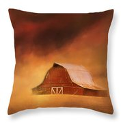 Summer Storm At The Barn Throw Pillow
