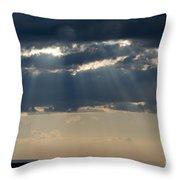 Summer Storm Clouds Throw Pillow
