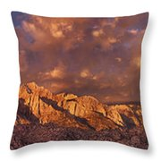 Summer Storm Clouds Over The Eastern Sierras California Throw Pillow