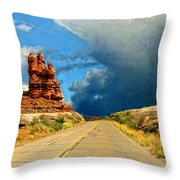 Summer Storm Throw Pillow