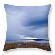 Summer Storm Over The Lake Throw Pillow