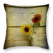 Summer Sunflowers Throw Pillow