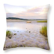 Summer Sunrise At Little Neck Throw Pillow
