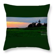 Summer Sunset At East Point Light Throw Pillow