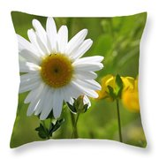 Summer Sunshine On Wildflowers Throw Pillow