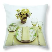 Summer Table Setting Throw Pillow