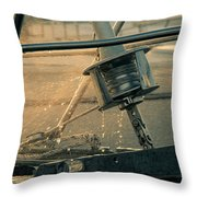 Summer Time On The Boat Throw Pillow