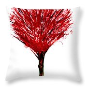 Summer Tree Painting Isolated Throw Pillow