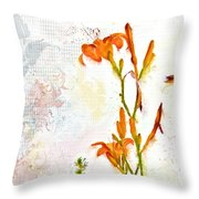 Summer Trinity Top One Of Three Throw Pillow