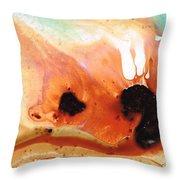 Summer Vacation Aqua Art Throw Pillow