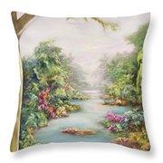Summer Vista  Throw Pillow by Hannibal Mane