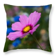Summer Wild Blooms Throw Pillow
