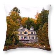 Summerhome On A River Throw Pillow