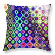 Summer's Colourful Nights Throw Pillow