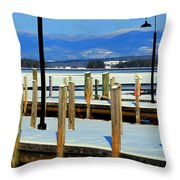 Summers Docked For Winter Throw Pillow